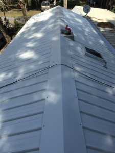 Small metal roof by A Parker Contracting in Delaware