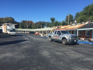 motel roof by A Parker Contracting in Delaware